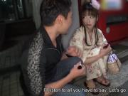 Japanese honey in a kimono, Nami Honda got creampied, uncens