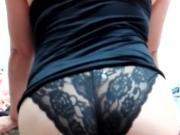 Lace black panty