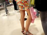 Gf's sexy legs hot feets sexy long toes shopping