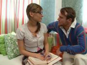 Virgin Schoolgirl Victoria Seduce to Fuck by Big Dick Guy