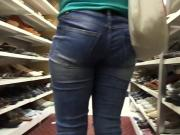 Sexy Milf In Blue Jeans V.P.L