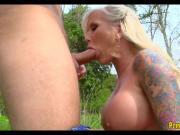 Blonde Slut Fucked in the wild