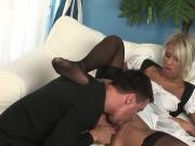 Black Diamond Horny Blonde Maid Taking A Doggystyle Pounding