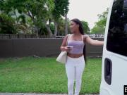 Picked up Latina fucks in a parked van beneath the highway