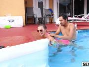 Carolina Sweets Gets Cock By The Pool
