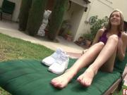 Outdoor Footjob with Molly Manson Just on Fucked Feet!