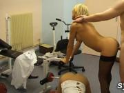 3 nurses fuck the doctor in hospital