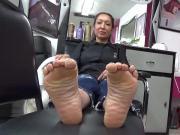 Mature Latin soles