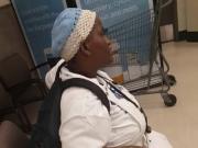 Black Granny Dwarf upskirt