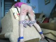 Tied to an armchair