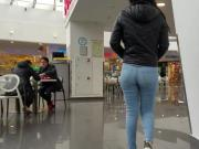 Luscious ass in the food court