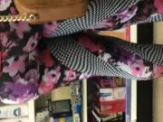 African Phatty on Flower Tights