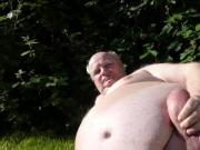 Grandpa play his thick pamped dick