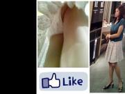 Boso upskirt hot milf white panty