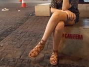candid teen legs sexy feets toes in sandals