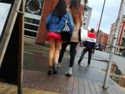 Slo Mo Cold Wet Manchester Minidress Arse Cheeks On Show