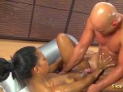 Isabella Chrystin give hot slippery massage