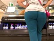 BBW Wedgie in Blue Sweats