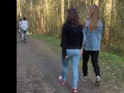 good teen ass in the forest