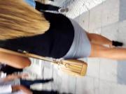 her perfect ass legs asslines in short skirt