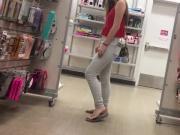 Shopping with cute teen