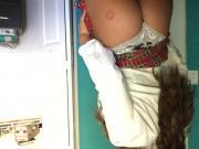 Kaitlyn from WWE aka Celeste Bonin stripping