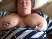 Arlinda Fat Girl In Nipple Clamps