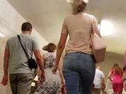 Tall blonde's ass