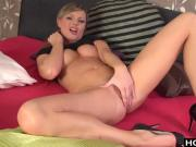 Sexy Euro Blonde works her pussy
