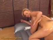 slippery massage porn with big but babe