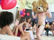 Ladies Go Wild And Suck Dick At CFNM Stripper Party