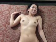 Japanese amateur sucks off huge European cock for facial POV
