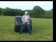 Wanking And Ejaculating In A Field