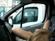 Masturbating in car. She loves to be watched