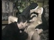 Two horny nuns for the priest