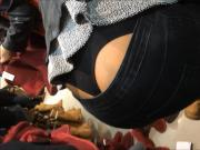 Her Thong Was All Out For Everyone To See...Yummy