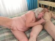 granny enjoys an old cock