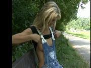 Czech girl fucked in the woods