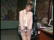 British MILF slut Anna in an office scene