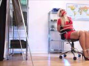 Secretary girl tied up