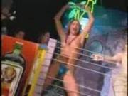 Bikini contest - topless girls dancing