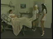two horny nurses fucking very hardly with patient in hospital