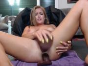 Milf DP Dildo Fucking Deepthroat and Massive Squirting