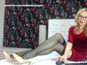 WM 119 Milf Black RHT Stockings Feet Heels