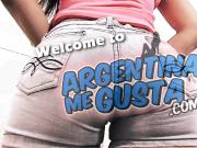 Big Ass and Fat Cameltoe Latina Wearing G-string and Tight D