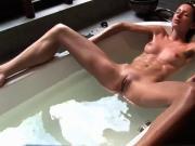 Sensual Film Of Beautiful Wife Bathing !