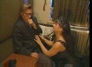 Gina Colany threesome in train compartment