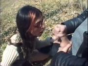 Outdoor Girl Gives Blow Job In The Forest