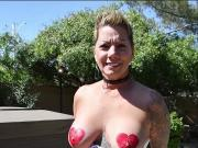 Shelby...Got her Tits Painted