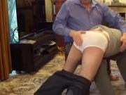 School Boy Spanked By Dad